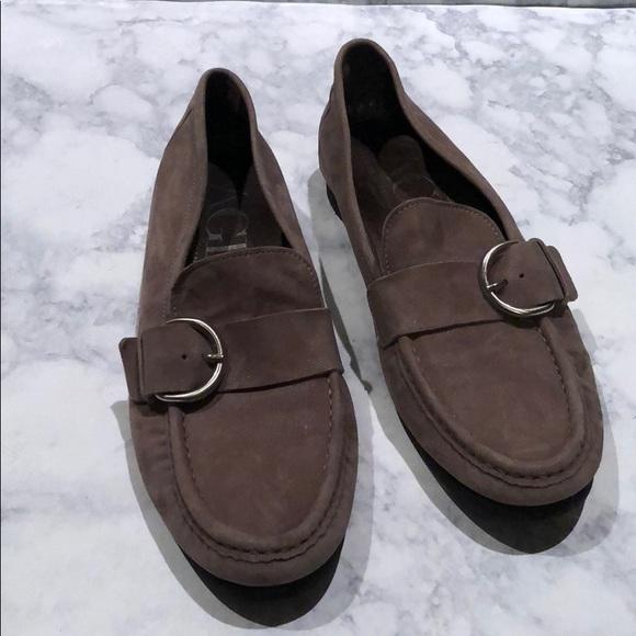 Agl Shoes   Agl Ballet Leather Metallic Shoes   Poshmark